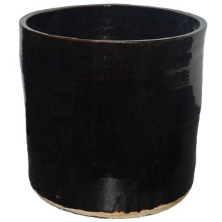 "Artisan Series Glazed Terracotta Planter ""Oscuro"" For Sale"