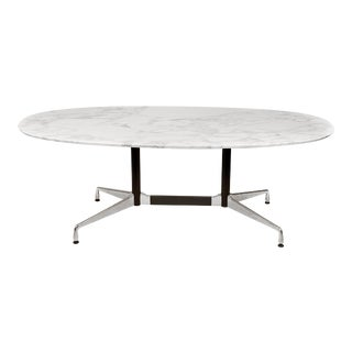 Charles Eames for Herman Miller Aluminum Group Calacatta Marble Table Desk For Sale