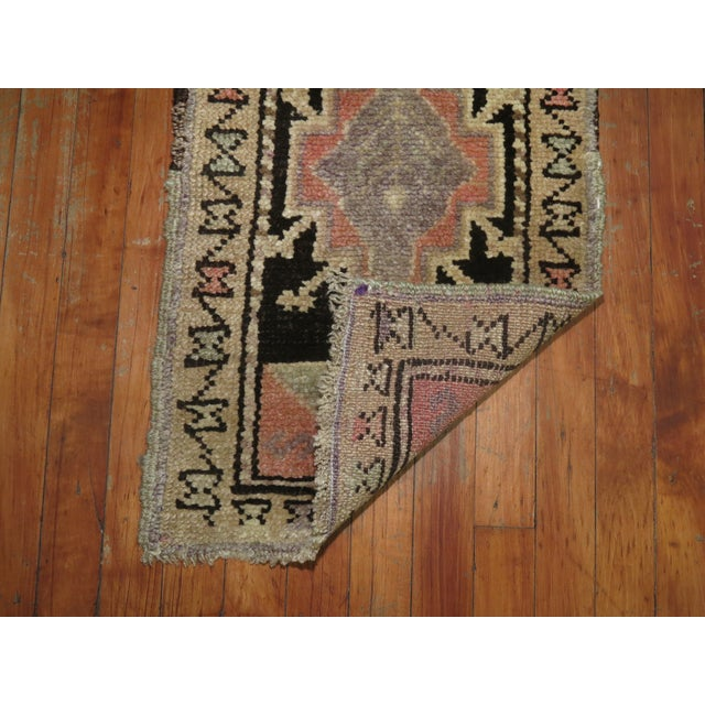 One of a kind, mid 20th-century Hand-knotted Turkish Anatolian Small Size Rug. Professionally Washed & personally vetted....