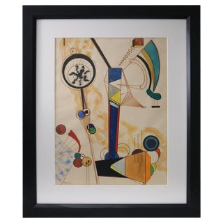 Homage to Vasily Kandinsky, Gouache on Paper For Sale