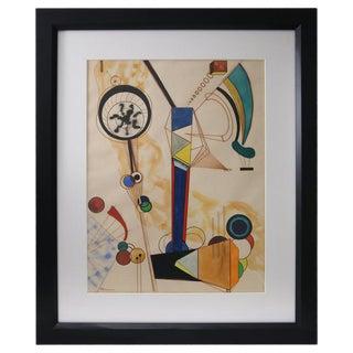 Homage to Vasily Kandinsky, Gouache on Paper For Sale