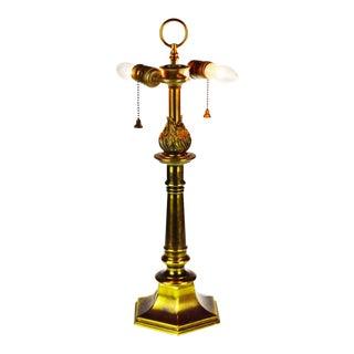 Vintage Brass Double Socket Stiffel Table Lamp