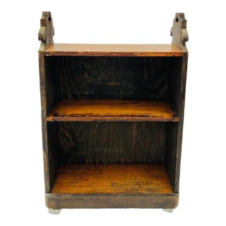 Antique Hand Crafted Wooden Bookshelf For Sale