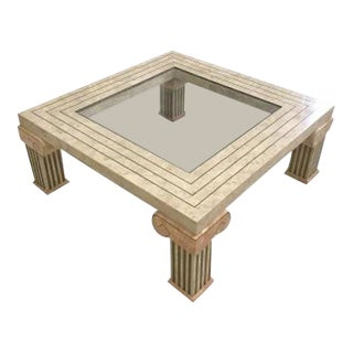 Maitland-Smith Tessellated Stone Marble Coffee Table, 1970s
