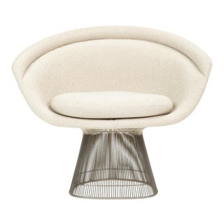 Platner Collection for Knoll Lounge Chair in White Bouclé For Sale