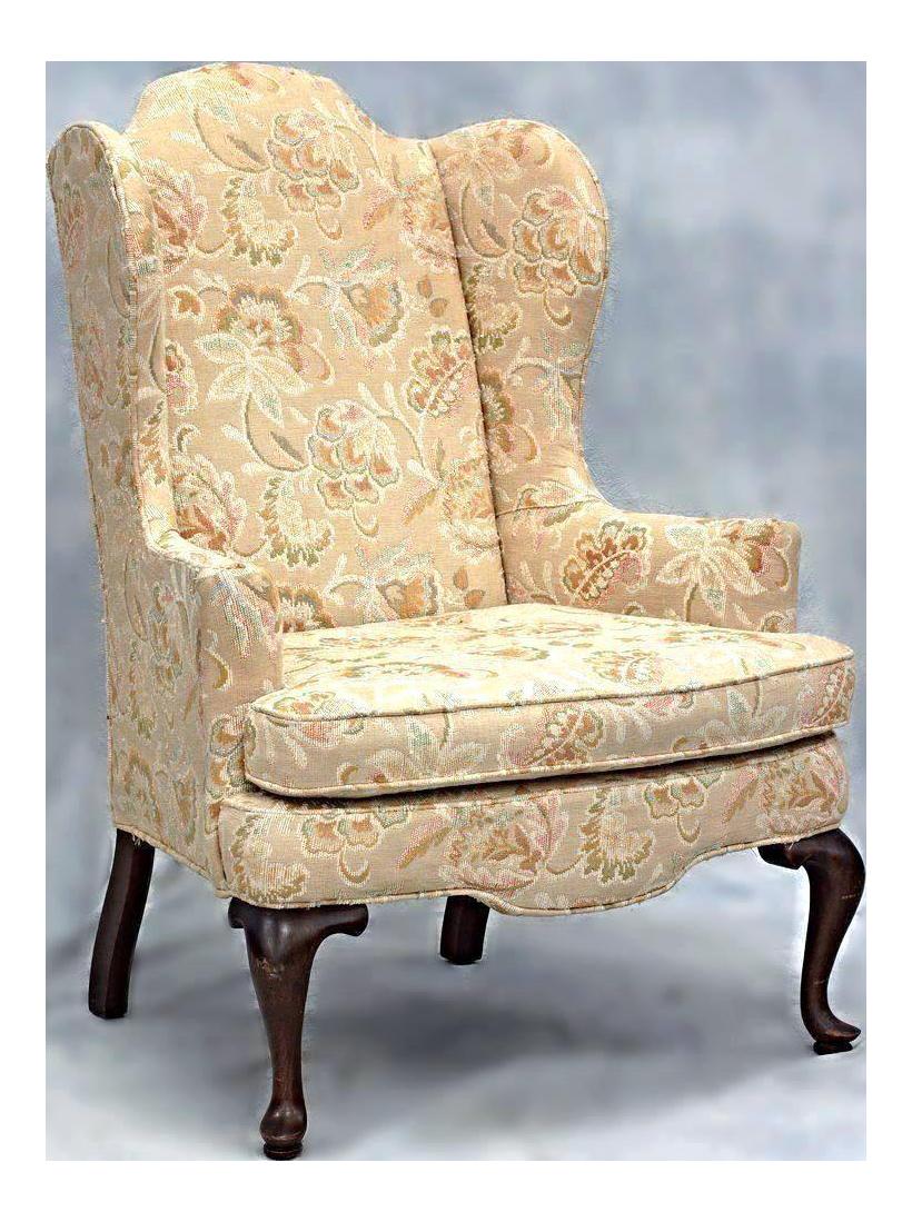 Woodmark Originals Queen Anne Style Wing Back Armchair Chair