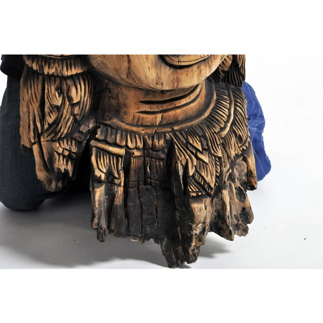 Southeast Asian Carving of Goddess For Sale - Image 12 of 13