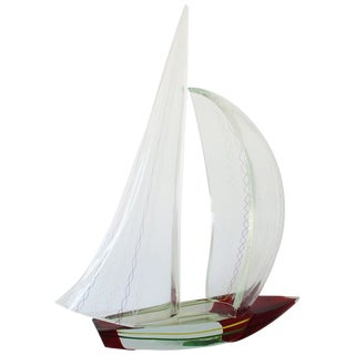 1980s Vintage Sailboat Sculpture by Alberto Doná For Sale