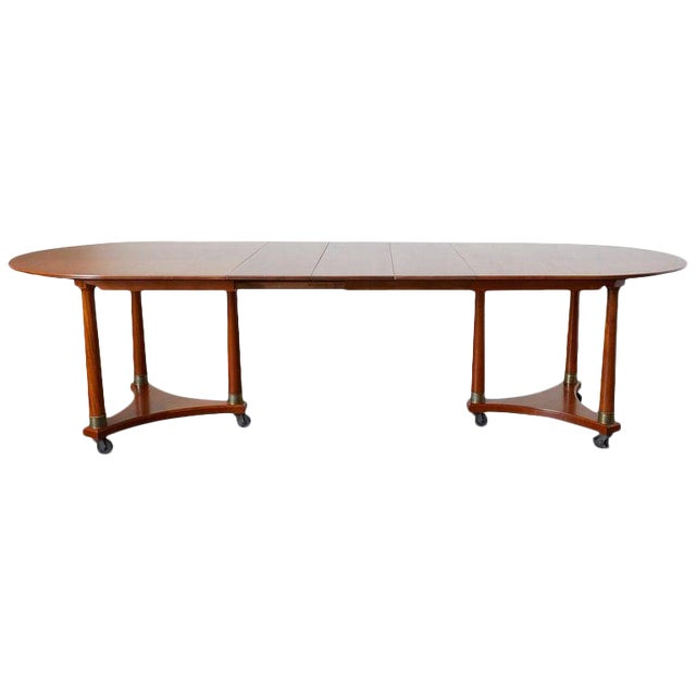 Swedish Biedermeier Style Library or Dining Table For Sale