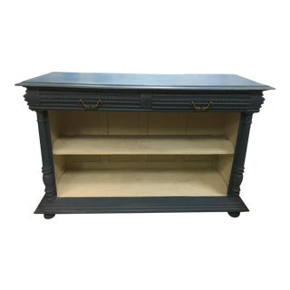 Antique French Painted Blue Storage Console For Sale