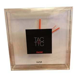 Kartell Tac & Tic Clock For Sale
