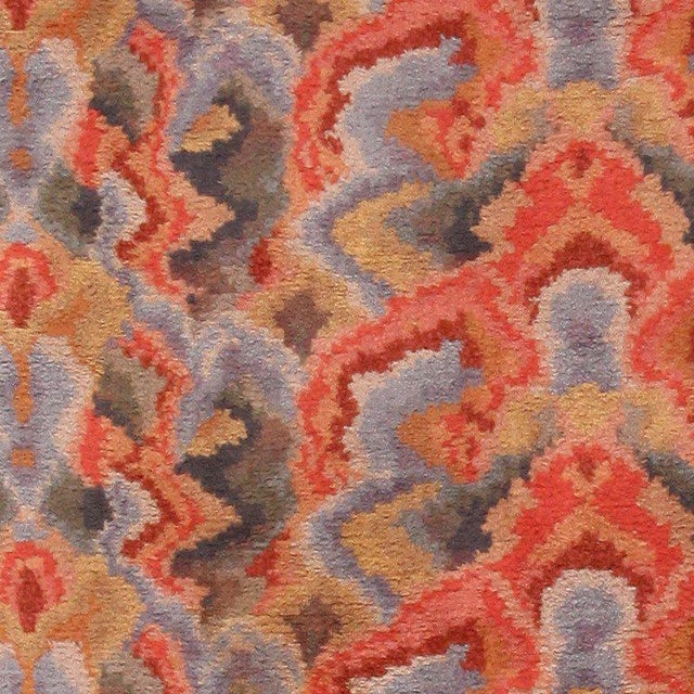 Vintage Swedish Abstract Floral Rug - 10′ × 12′ For Sale In New York - Image 6 of 8