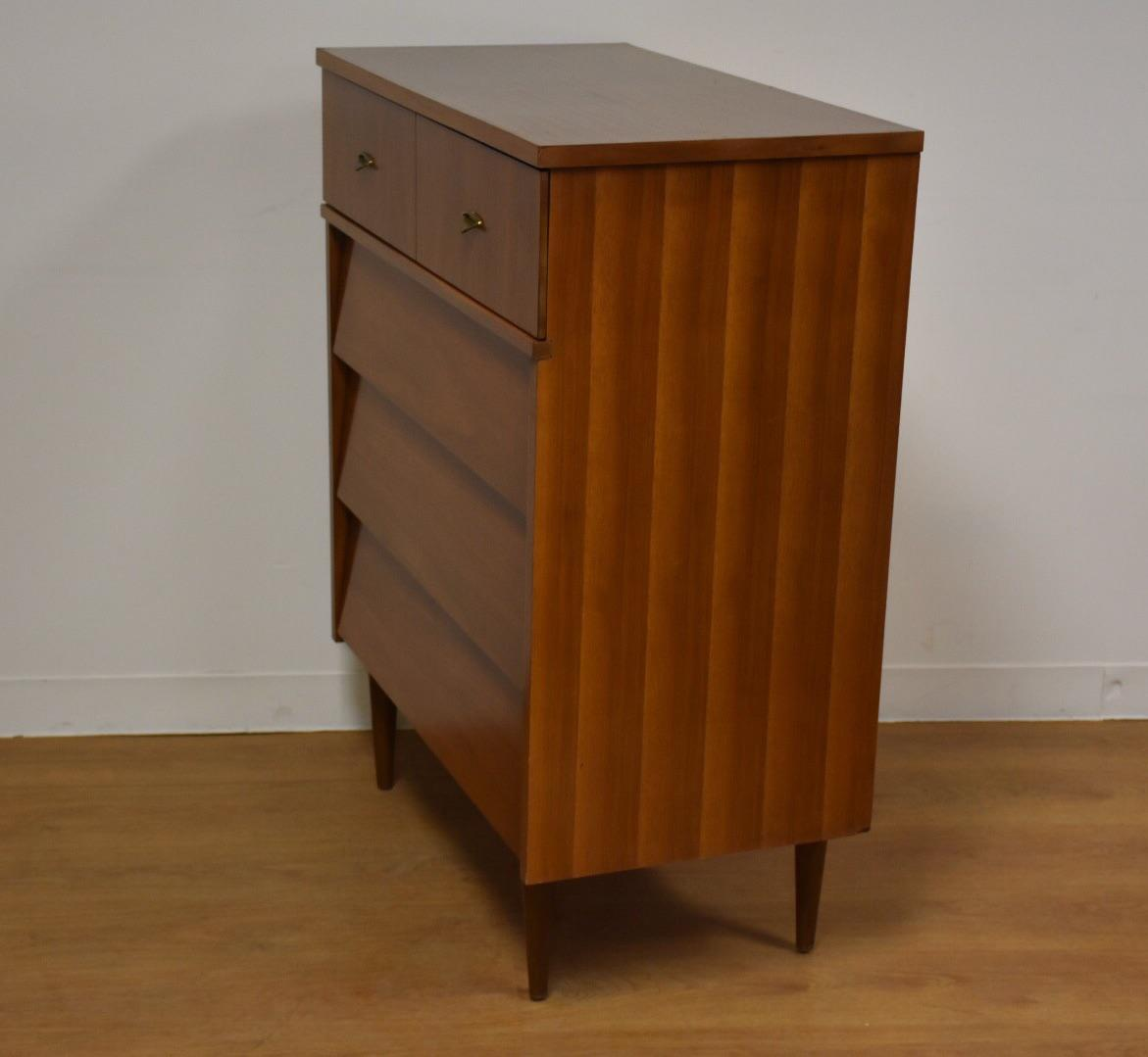 Harmony House Walnut And Formica Dresser   Image 3 Of 10