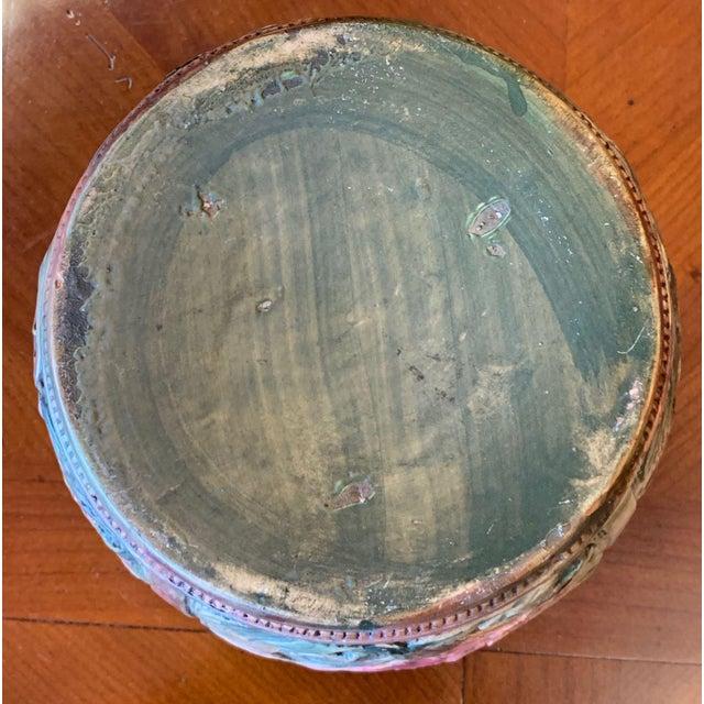 Green Weller Flemish Ceramic Cachepot For Sale - Image 8 of 9