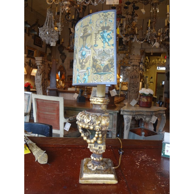 Late 19th Century Italian 19th Century Single Lamp For Sale - Image 5 of 11