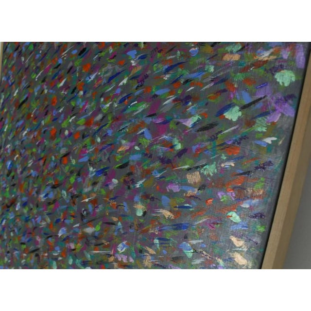 Square Abstract Modern Painting Artist Signed Herman Kahan For Sale In New York - Image 6 of 8