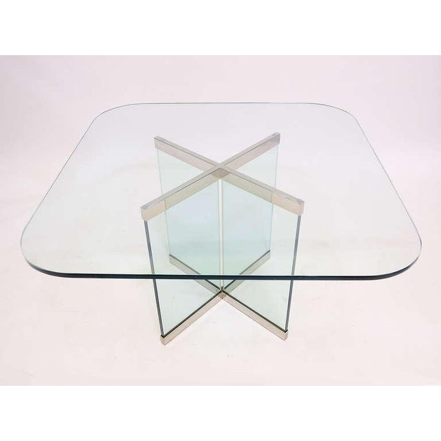Chrome Glass & Chrome Dining Table by Leon Rosen for Pace Collection For Sale - Image 7 of 10