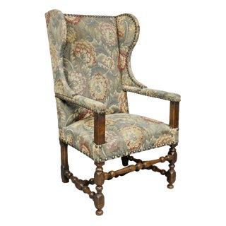 Flemish Baroque Walnut Armchair For Sale
