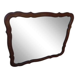 1950s French Provincial Wooden Wall Mirror