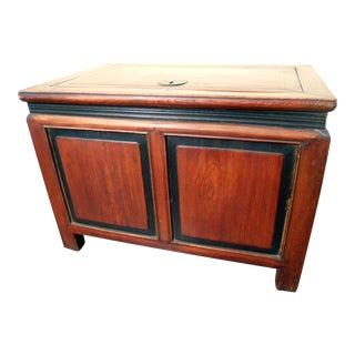 Circa 1800-1849 Chinese Zelkova Wood Treasure Trunk