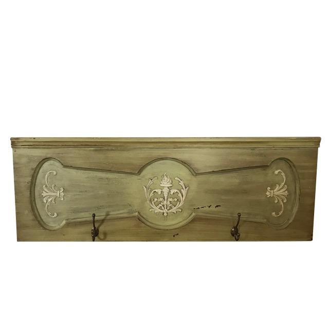 1940s Vintage Architectural Wood Plaque With Hooks For Sale - Image 12 of 12