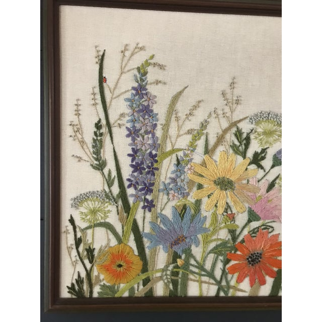 Embroidered Floral Artwork - Image 2 of 5