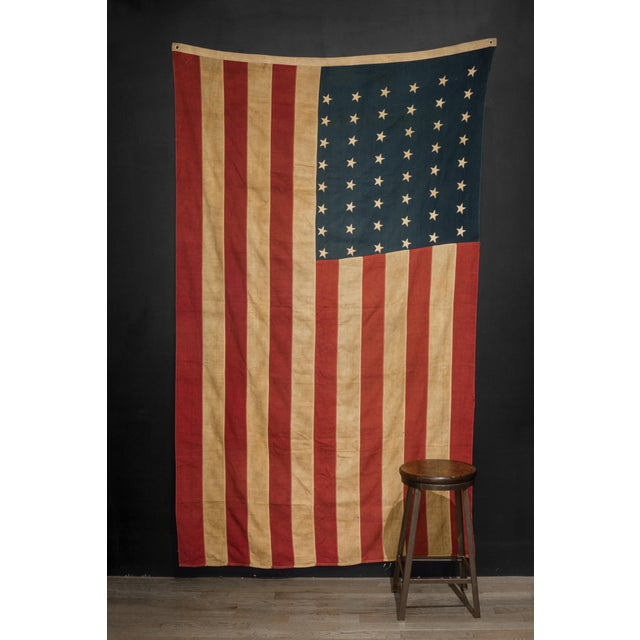 Americana Early 20th C. Large American Flag With 48 Stars C. 1940 For Sale - Image 3 of 4