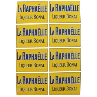 1920's French Vintage Alcohol Poster, La Raphaelle - Liqueur Bonal (Yellow\Blue)