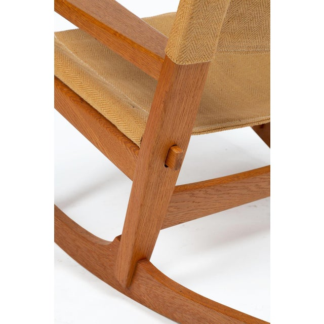 Keyhole Rocking Chair by Hans Wegner For Sale - Image 10 of 13