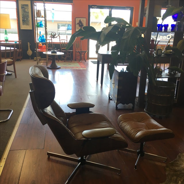 Selig Eames Style Chair & Ottoman - Image 4 of 11