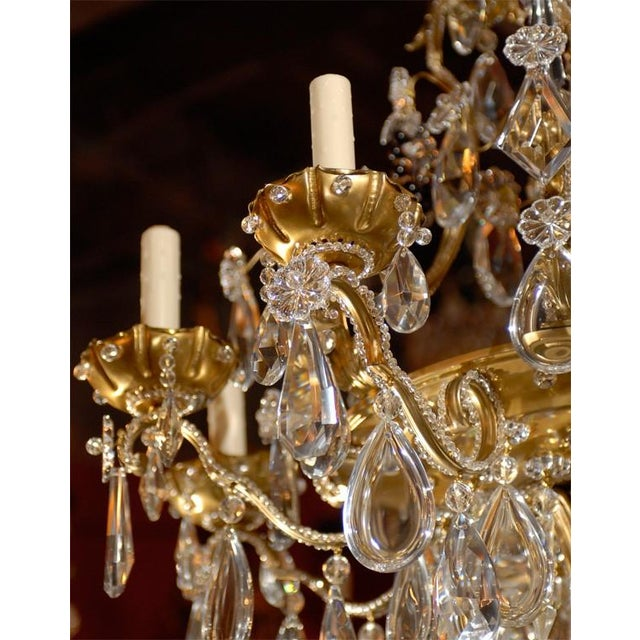 French Jansen Antique Chandelier For Sale - Image 3 of 8