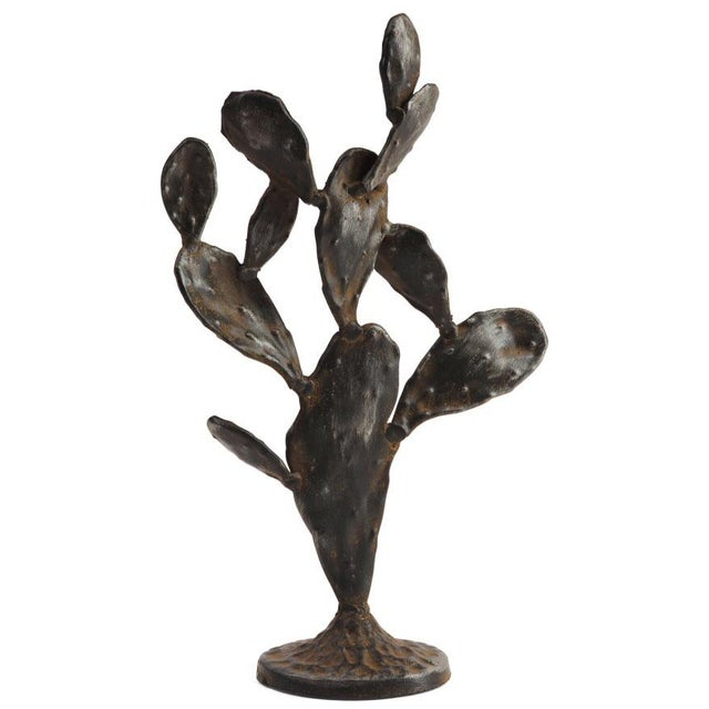 2010s Metal Cactus Sculpture For Sale - Image 5 of 6