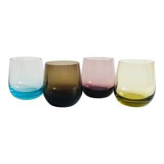Vintage Rainbow Cordials - Set of 4 For Sale