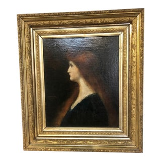 Signed Painting of St. Fabiola in Manner of Jean Jacques Henner For Sale