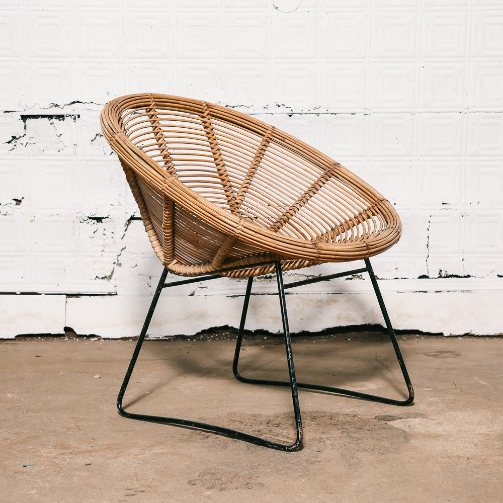 Vintage Woven Rattan Chair   Image 10 Of 10