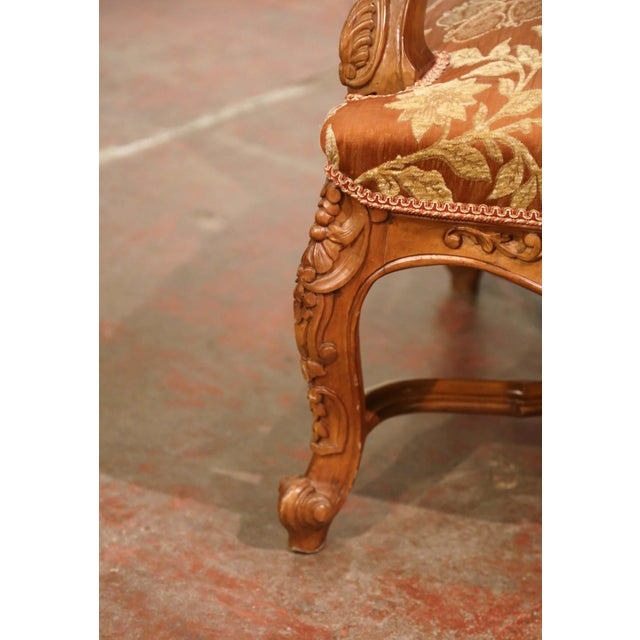 19th Century Louis XV Carved Walnut Armchairs From Provence - a Pair For Sale - Image 10 of 13