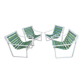 Set of Four Vintage Outdoor Chairs For Sale