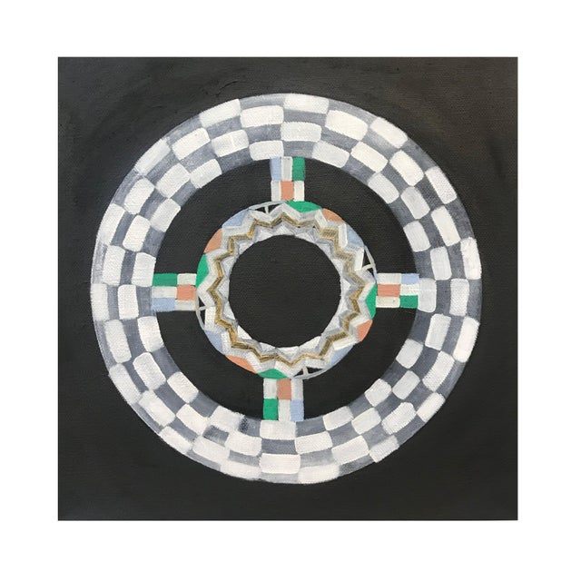 2010s Natasha Mistry Contemporary Black Oil Paintings - Set of 3 For Sale - Image 5 of 11