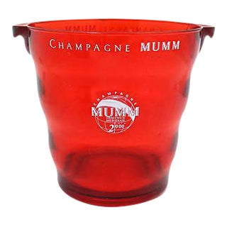Vintage Mumms French Lucite Champagne Bucket For Sale