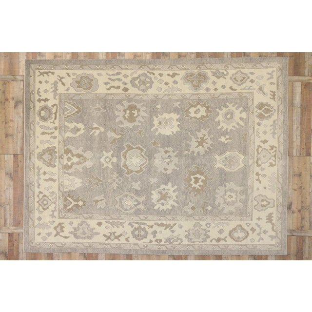 Contemporary Turkish Oushak Area Rug - 11′2″ × 14′7″ For Sale - Image 4 of 8