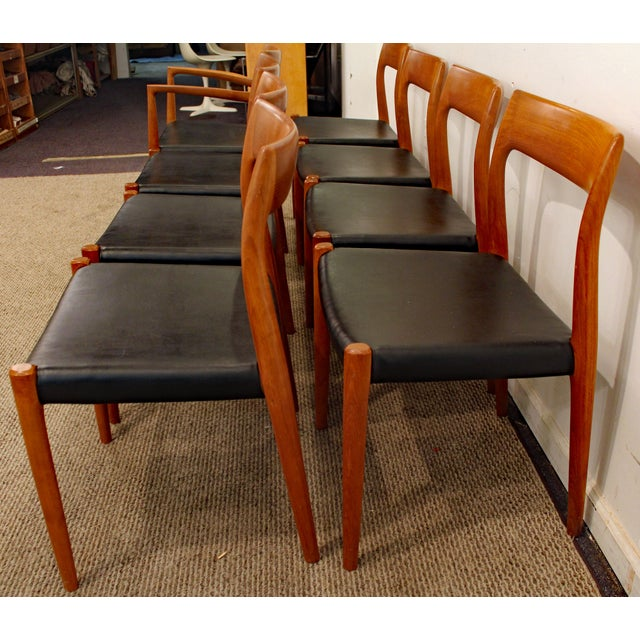 Danish Modern Niels Moller #77 Teak Dining Chairs - Set of 8 For Sale In Philadelphia - Image 6 of 11