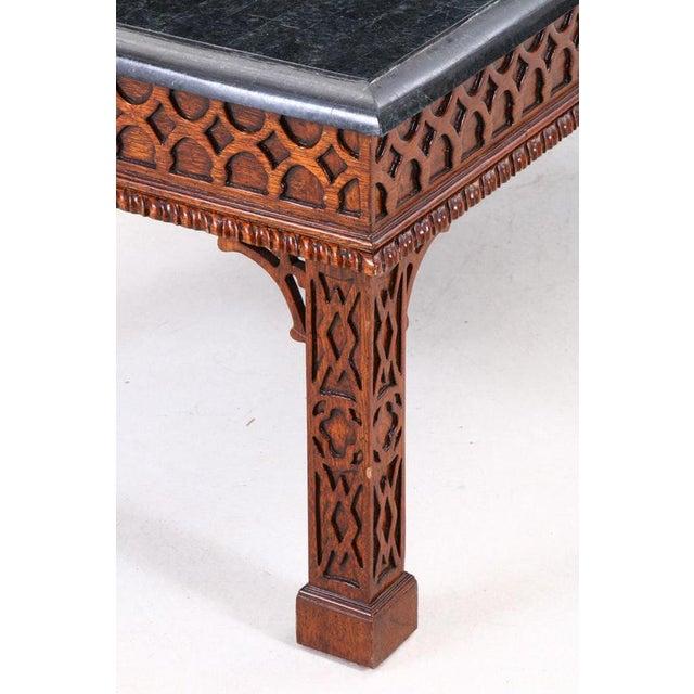 Art Nouveau 20th Century Art Nouveau Maitland Smith George III Style Mahogany Coffee Table For Sale - Image 3 of 6