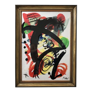 "1980s Peter Keil ""Miro"" Painting For Sale"