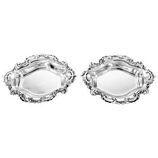 Pair of Sterling Candy Dishes For Sale