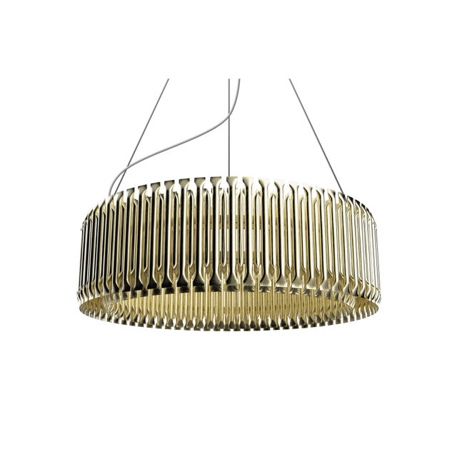 Brass Covet Paris Matheny Chandelier For Sale - Image 8 of 12