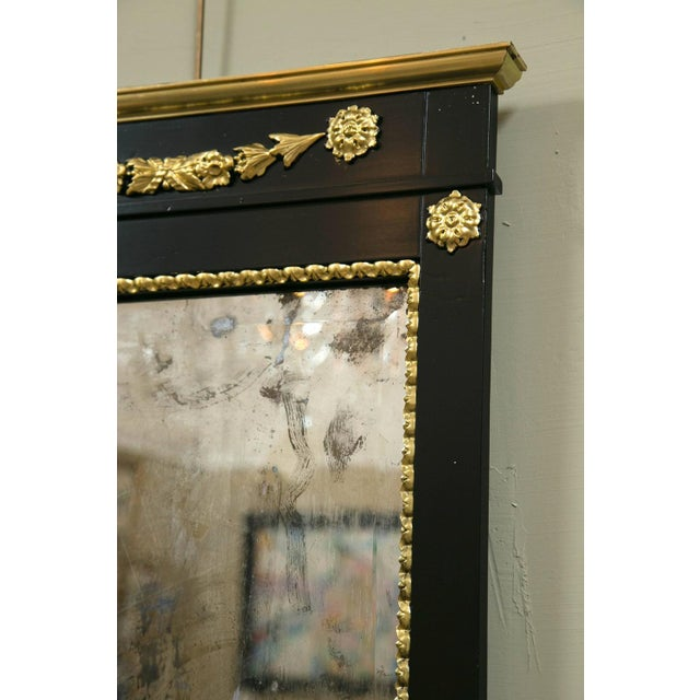 A Pair of Antique Ebony & Giltwood Mirrors - Image 6 of 7