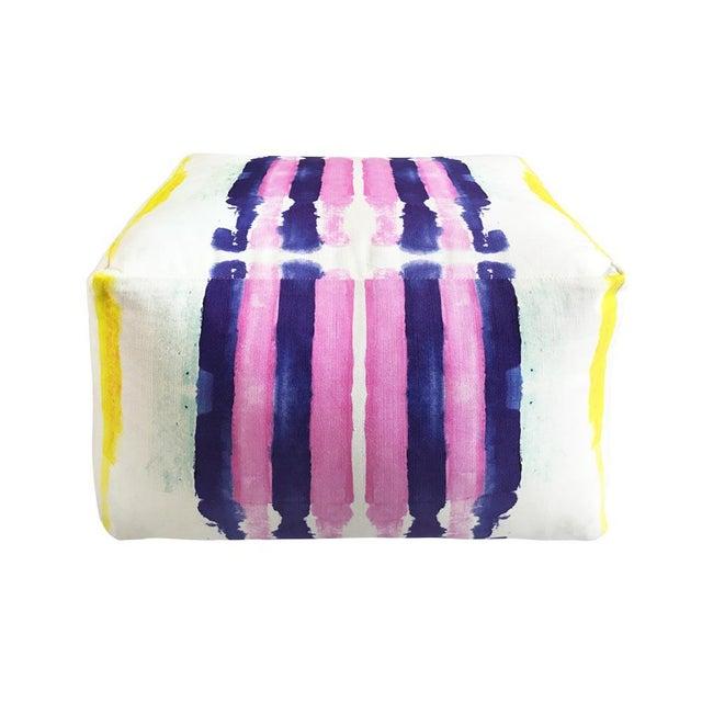 Kristi Kohut Sailor Stripes Pouf For Sale - Image 5 of 5