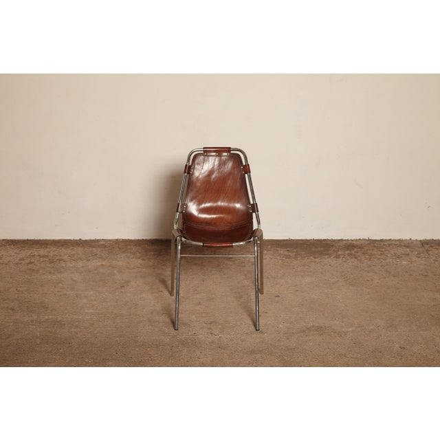 Animal Skin Vintage Mid Century Les Arcs' Chairs Selected by Charlotte Perriand For Sale - Image 7 of 9