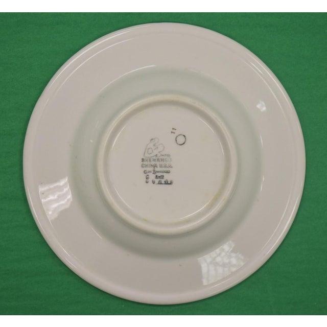 1950s Vintage Shenango Carlyle Hotel Gilt Soup Bowl For Sale - Image 4 of 6