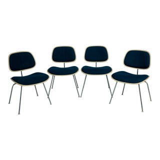 1970s Charles & Ray Eames for Herman Miller Upholstered Dcm Dining Chairs - Set of 4 For Sale